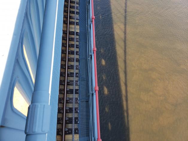 Ben Franklin Bridge walk Camden to Philly 6